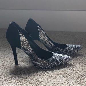 Guess two-tone leopard heels